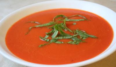 Sopa de Feijão Branco, Pimentão e Rúcula (vegana)