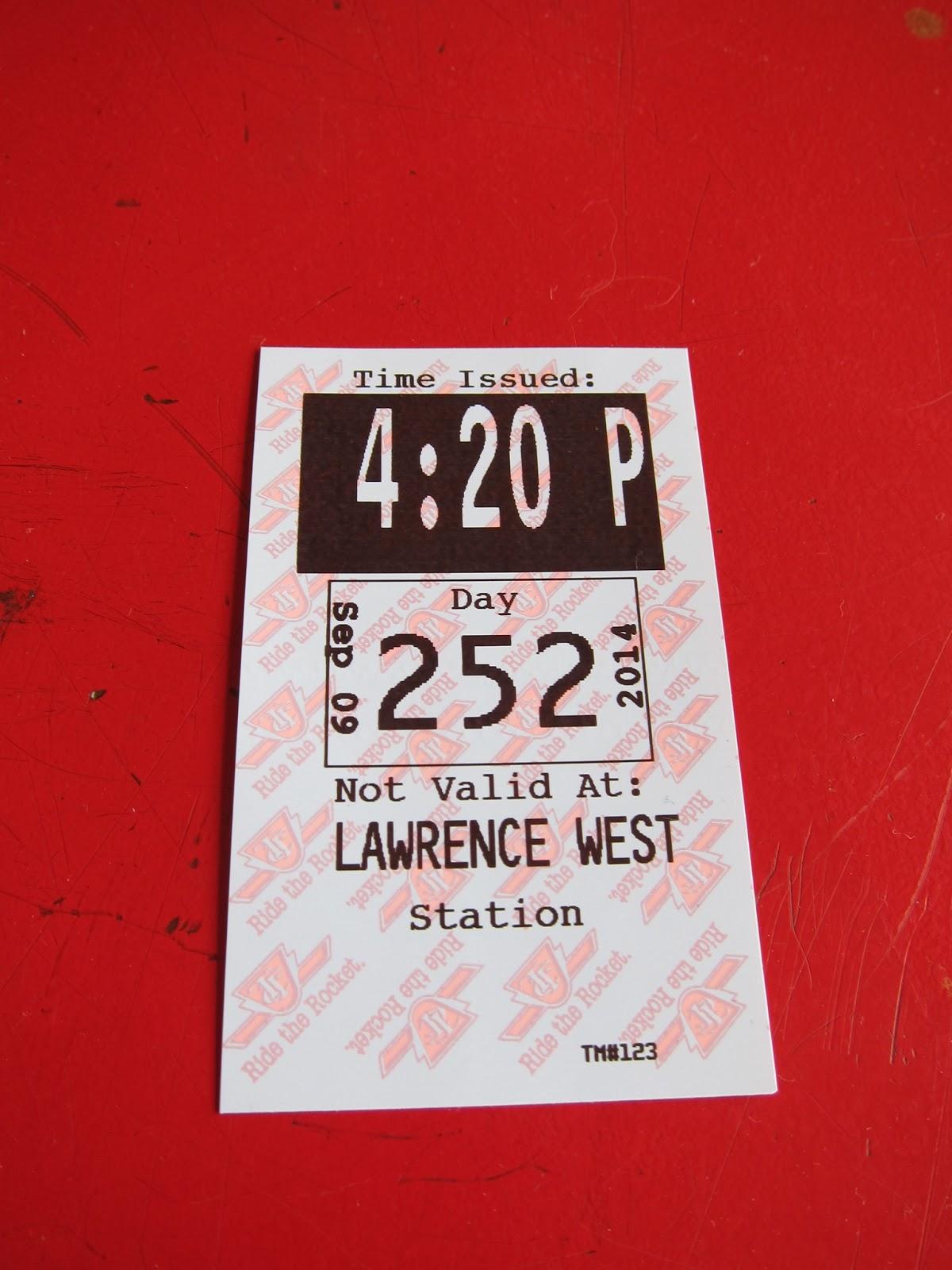Lawrence West station transfer