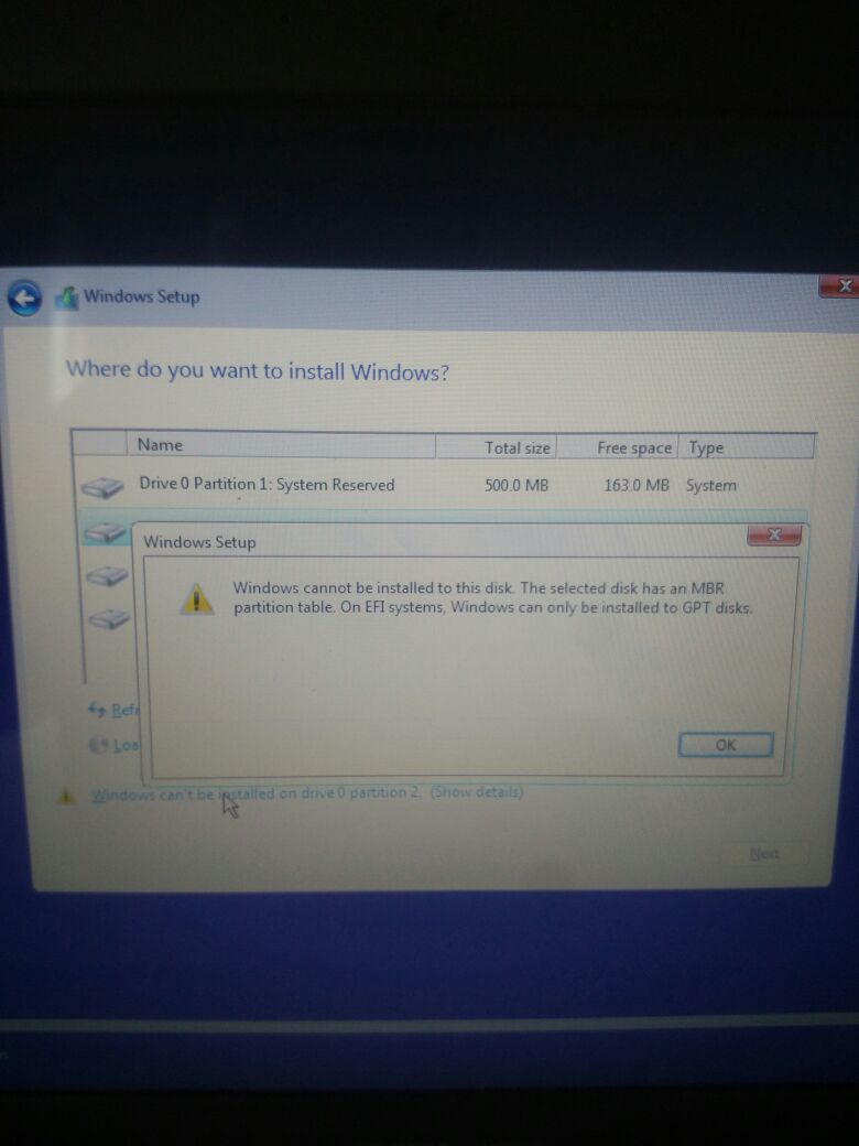 stdln mengatasi solve windows cannot be installed to