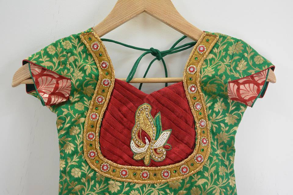 Bridal Embroidery Work Blouse Designs - Blouse Designs | Patch | Maggam | Kundan | Lace Work ...