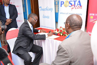 Posta signs deal to offer dtb agency banking services kenya