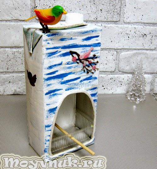 Поделка кормушка для птиц, фото