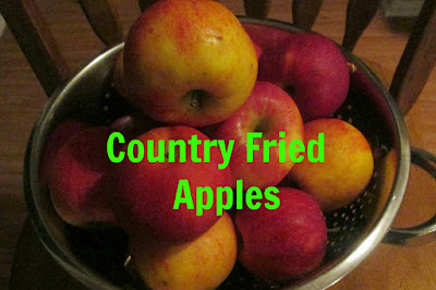 These Country Fried Apples taste so good! Vickie's Kitchen and Garden