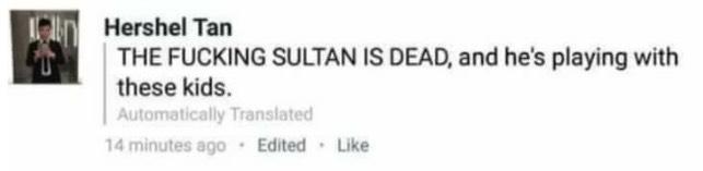 Hershel Tan Hina Almarhum Sultan Kedah