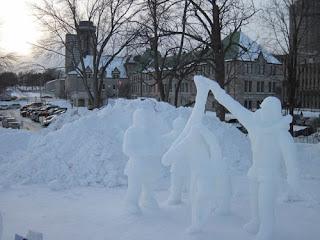Snow Gymnastics.