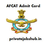 AFCAT Admit Card