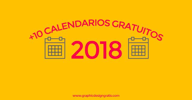 los mejores calendarios 2018 gratis para imprimir