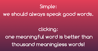 Example of a simple word and a clicking word