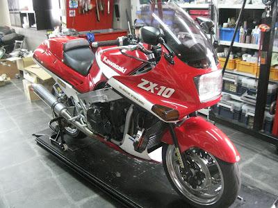 カワサキZX-10修理
