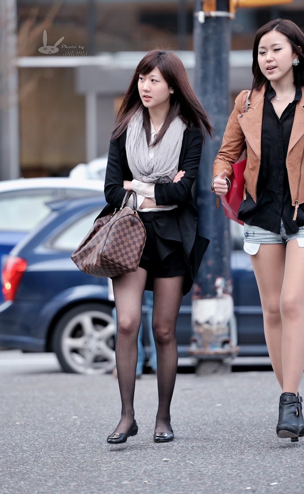 Cross eyed oriental street girls