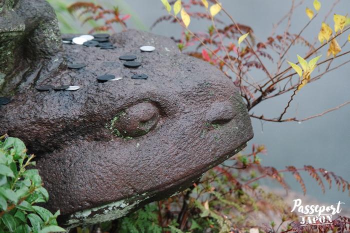 Statue de grenouille (détail), Bôzu Jigoku, Beppu, Oita