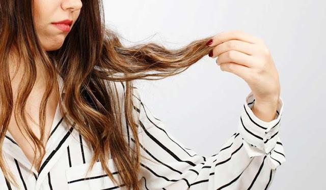 علاج الشعر المتقصف والتالف