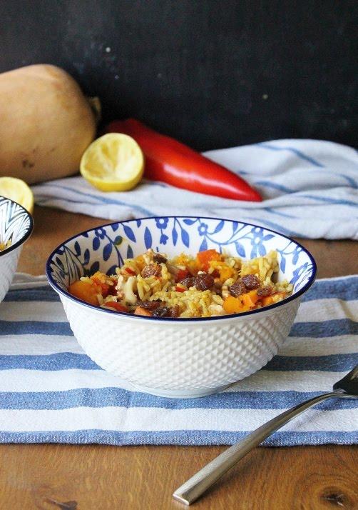 One - Pot Gewürzkürbis mit Reis
