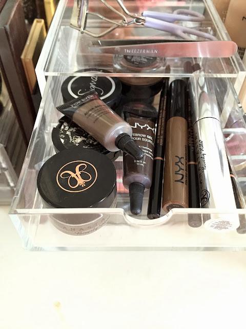 Eyebrows, Anastasia Beverly Hills, Storage, Acrylic, Muji, Brow Pomeade, Aqua Brow, Brow Wiz, Sigma