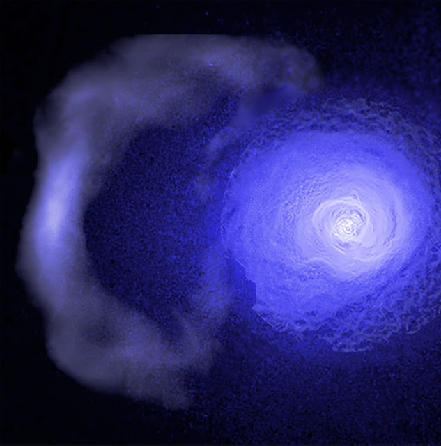Scientists surprised by relentless cosmic cold front in the Perseus cluster
