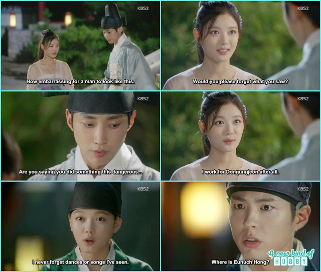 crown prince searching for the girl dance in king birthday and yoon sung saved ra on - Love in The Moonlight - Episode 5 Review