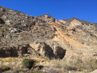 View west on Fish Canyon access trail through Vulcan Materials Azusa Rock quarry
