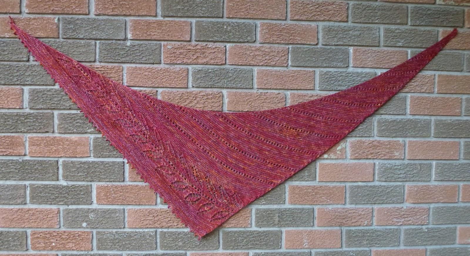 Not just about knitting silverleaf shawlette Silverleaf com