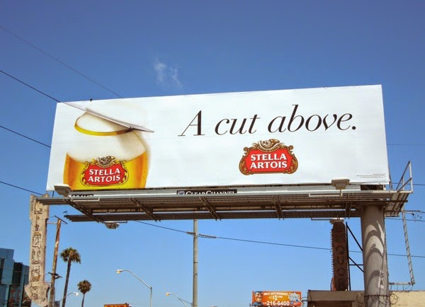 Stella Artois A cut above billboard