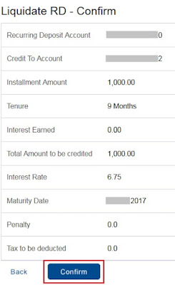 Close HDFC Online RD Account