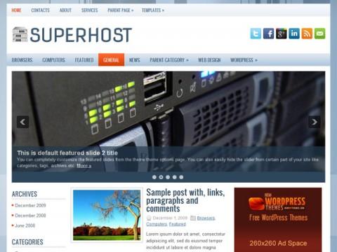 Free SuperHost WordPress Theme
