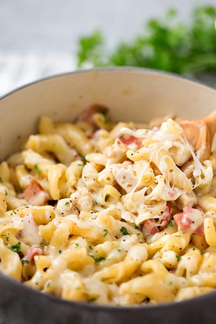 Creamy Chicken Cordon Pasta