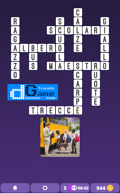 Soluzioni One Clue Crossword livello 3 schema 12 (Cruciverba illustrato)  | Parole e foto