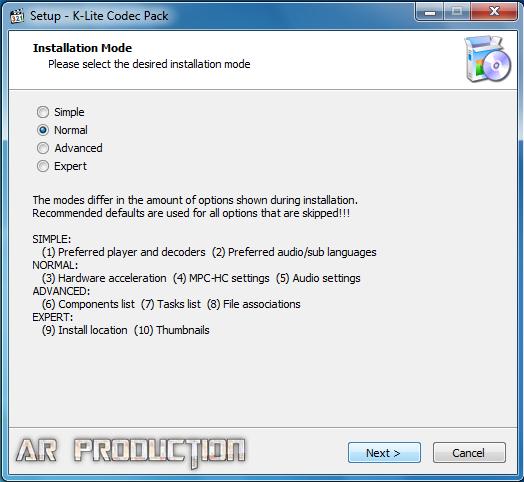 Cara Instalasi K-Lite Codec Pack Beserta Gambar
