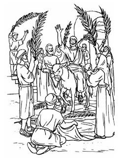 Dibujos para colorear del Domingo de Ramos