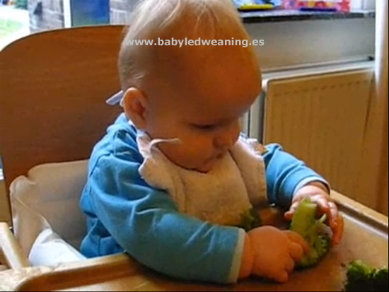 Videos de baby-led weaning. Olivier: toma 4.