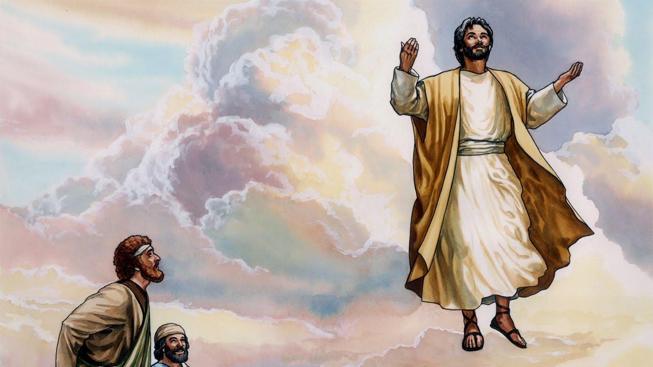 Ilustração de Jesus subindo ao céu