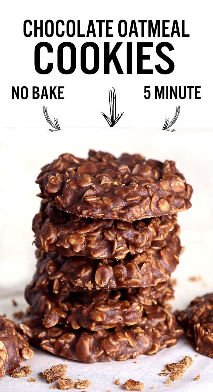 No Bake Chocolate Oatmeal Cookies   Blogger Food Recipes