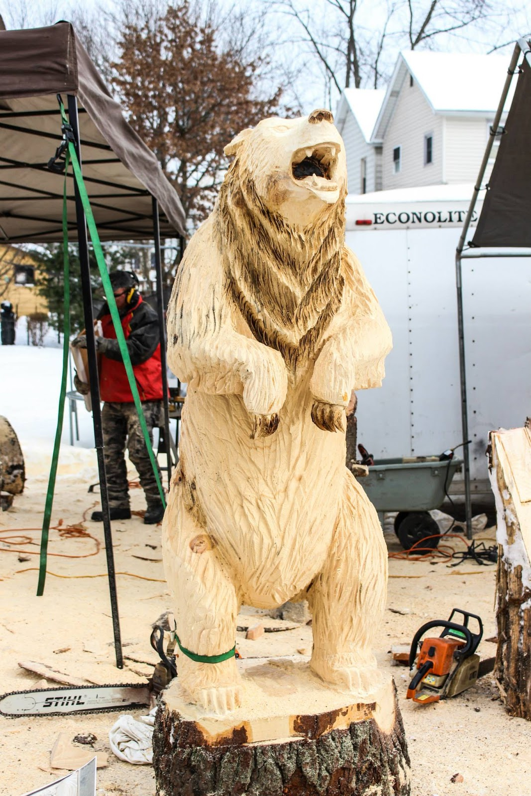 Pittsburgh owl scribe ridgway chainsaw carvers rendezvous
