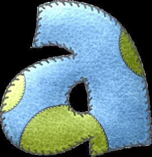 Alfabeto Celeste con Círculos Grandes de Colores.