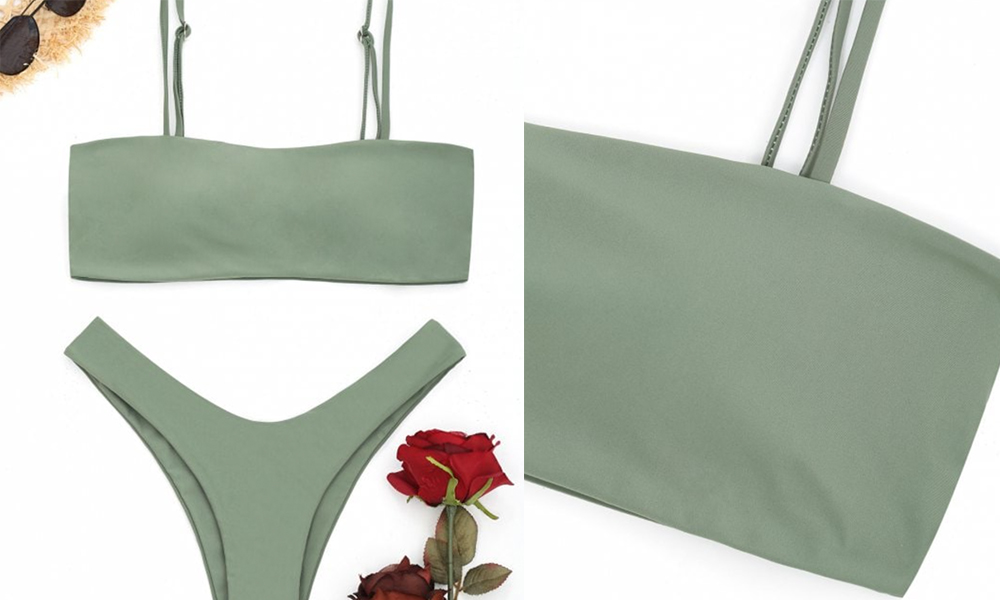 Zaful bikini military green