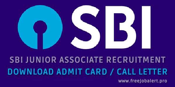 sbi junior associate examination admit card download