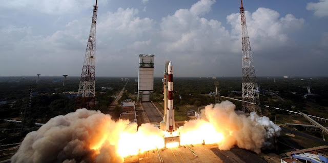 An archive photo of a previous PSLV-XL launch from the Satish Dhawan Space Centre. Photo Credit: ISRO