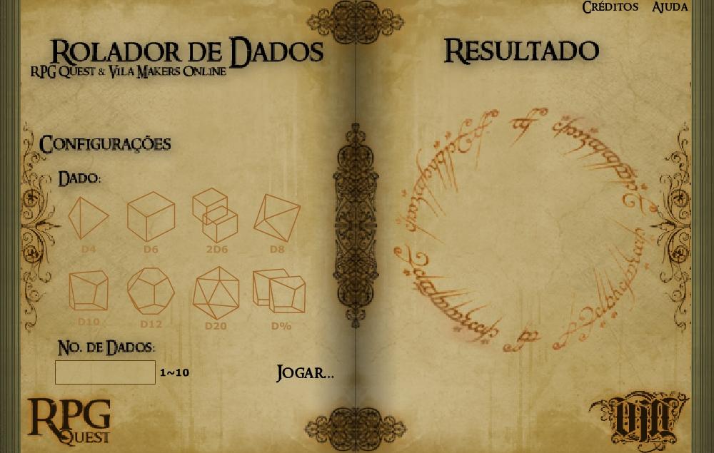 Rolador de dados RPG