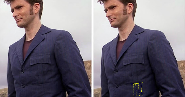 10th Doctor blue suit darts