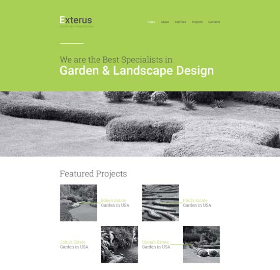 20 Awesome Exterior Design & Landscaping Website Templates ...