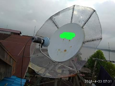 Modif Dish Bekas Indovision/Top Tv Untuk Tracking Satelit Intelsat 19 & Thaicom 5/6