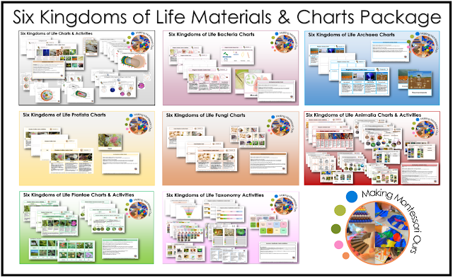 Montessori Six Kingdoms Complete Printable Charts, and ...