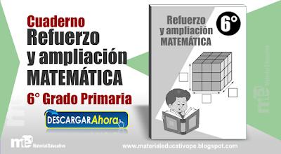 Cuaderno Refuerzo y Ampliación  Matemática 5° Grado Primaria