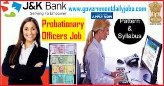 J&K Bank Jobs 2018 Recruitment 2018 - Apply Online 250 Vacancy