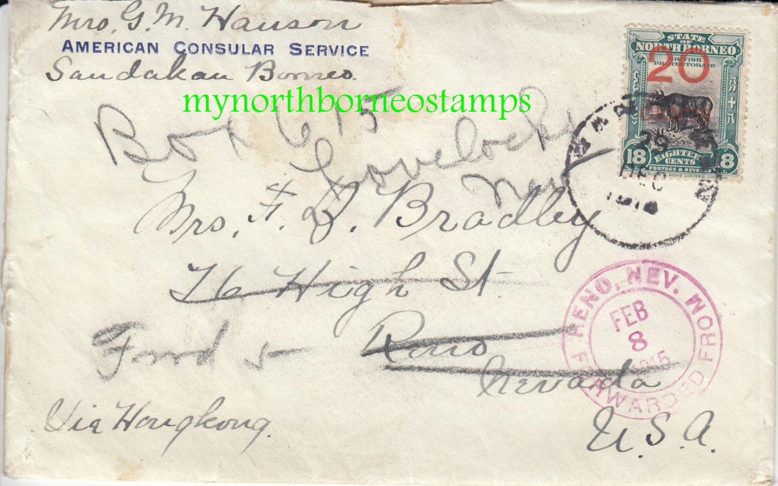 My North Borneo Stamps A Sandakan American Consulate Cover And Letter