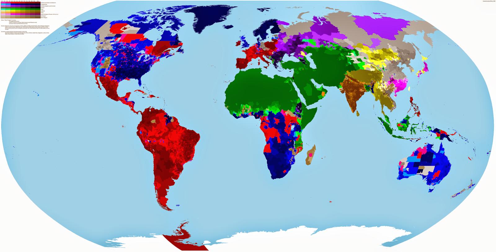 Gambar Peta Dunia Berdasarkan Penganut Agamanya Tahukah Wwwgambar