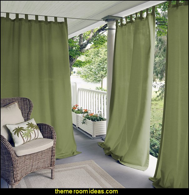 Matine Single Light Filtering Indoor/Outdoor Window Curtain Panel