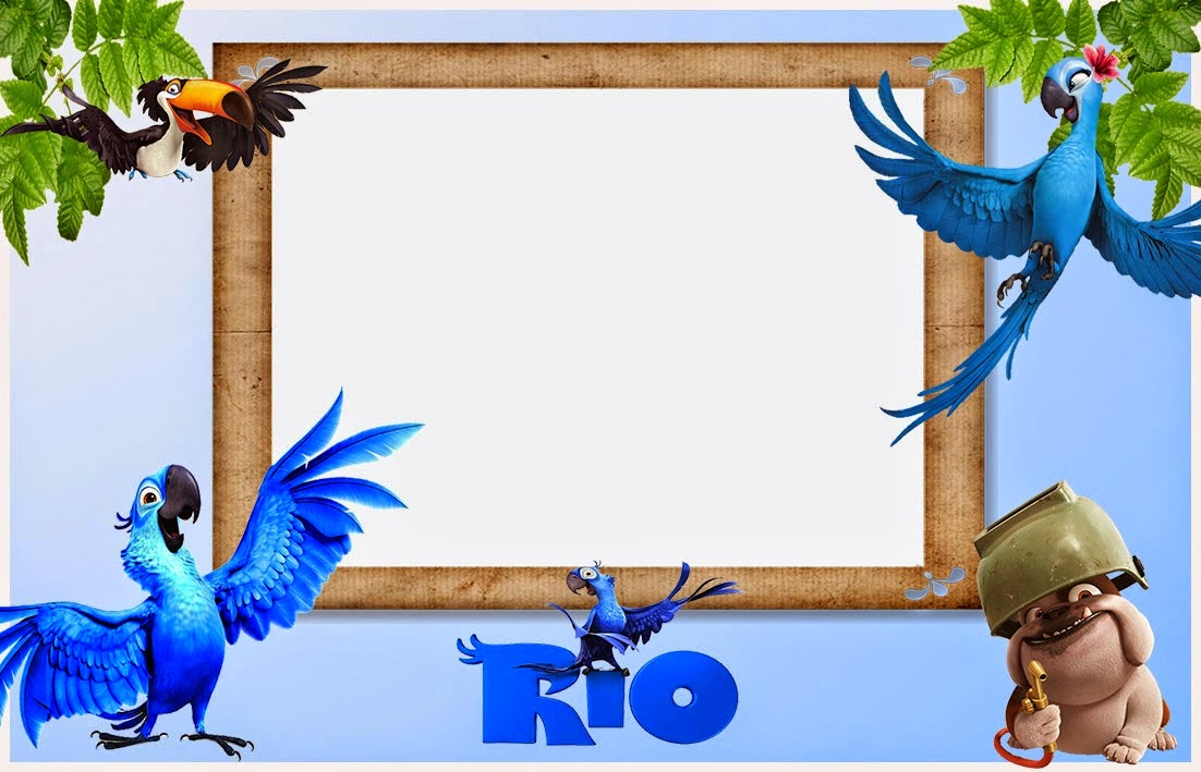 Rio, Free Printable Invitations, Labels or Cards.
