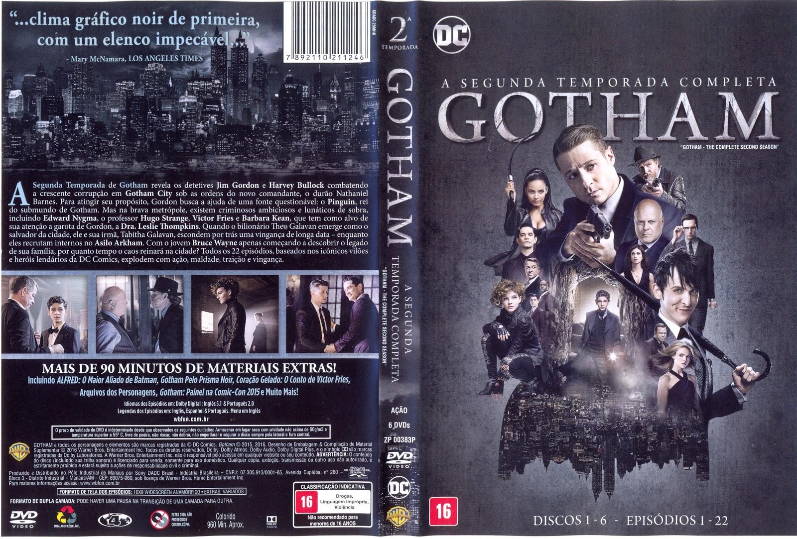 Capa DVD Gotham Segunda Temporada Completa