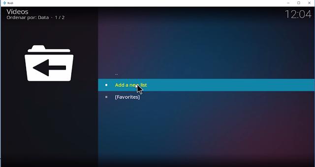 add new list playlist loader kodi